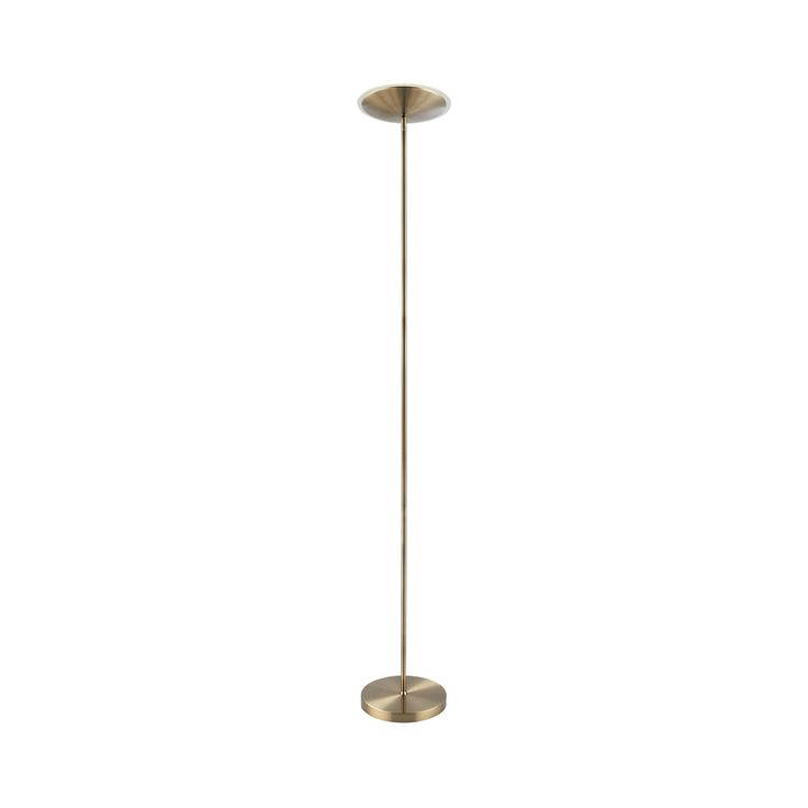 Endon 61137 Riga 1 Light LED Antique Brass Floor Lamp