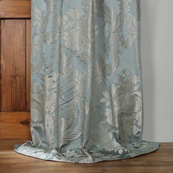 Ballsallagh Damask Room Darkening Rod Pocket Single Curtain Panel