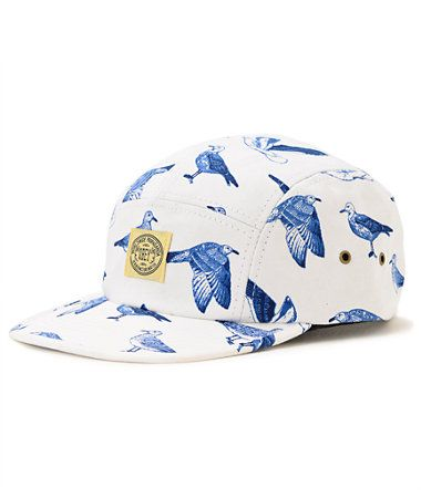 Obey Gulls White 5 Panel Hat at Zumiez : PDP