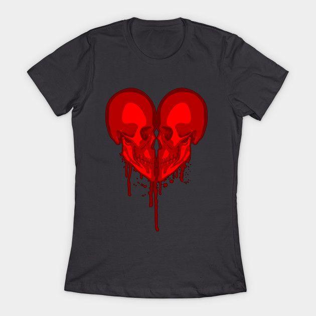 Eternal Valentine - Goth Heart - T-Shirt | TeePublic