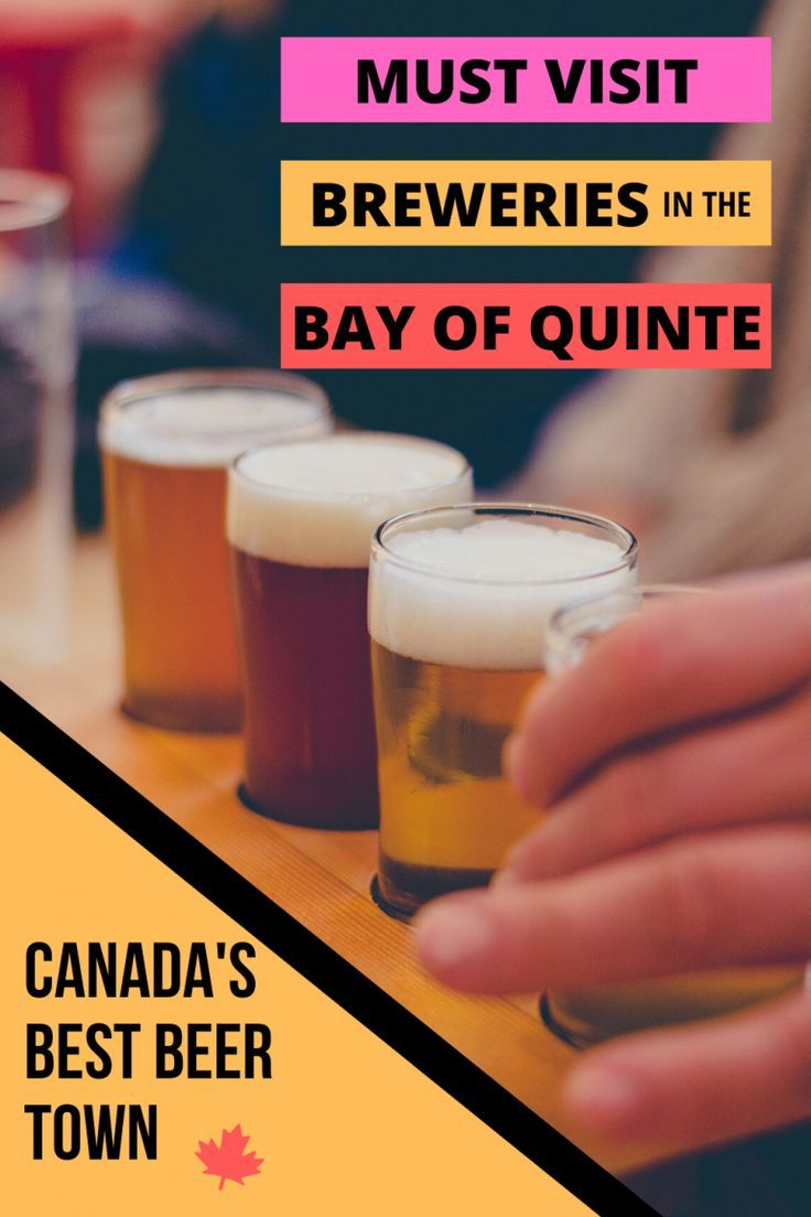 The Best Breweries In One Of Canada S Best Beer Towns The Bay Of Quinte In 2020 Best Beer Brewery Best Craft Beers