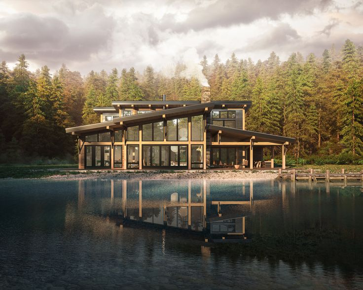 CGI's for a new design for luxury cabin lodges in US.