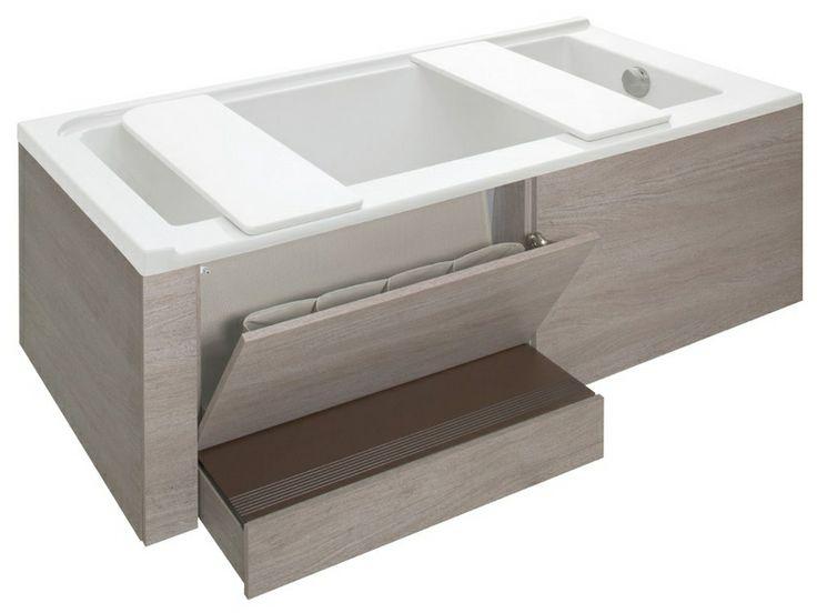 Дизайн однокомнатной квартиры  Хранение под ванной