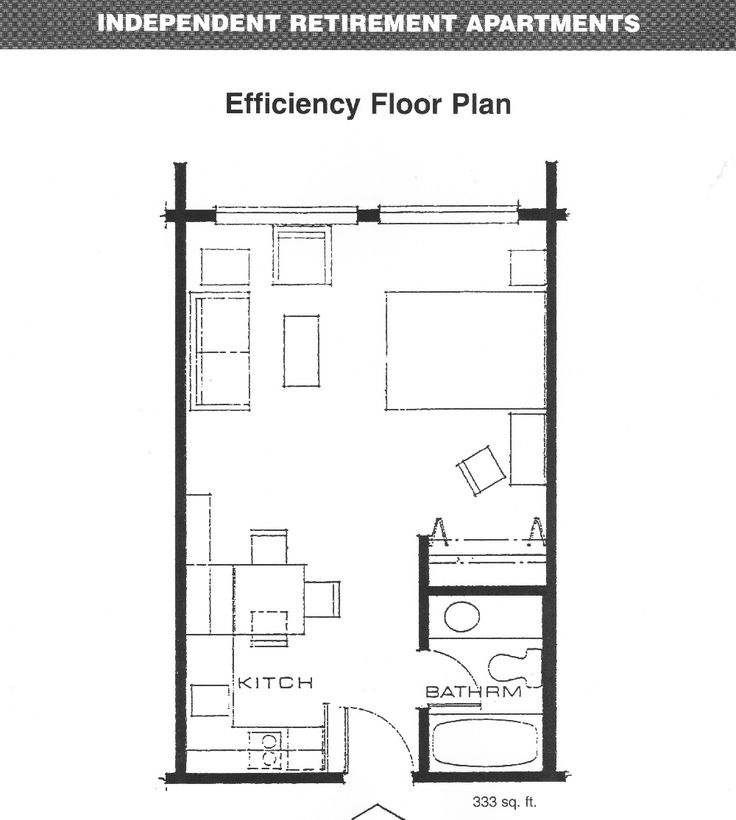 Superior Apartments Efficiency Floor Plan