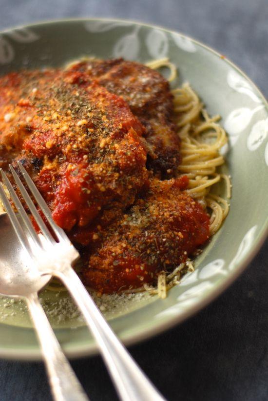 romantic dinner ~ Chicken Parmesan Paillard