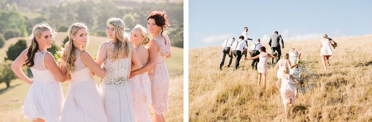 bridal party photo's jenny packham