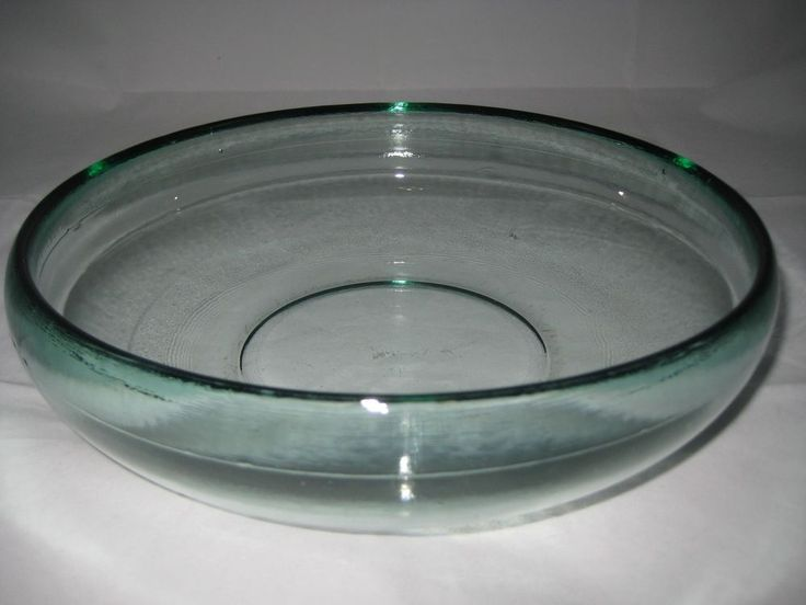 VivaTerra Contemporary Cast Recycled Large Glass Bowl Green Hue #VivaTerra