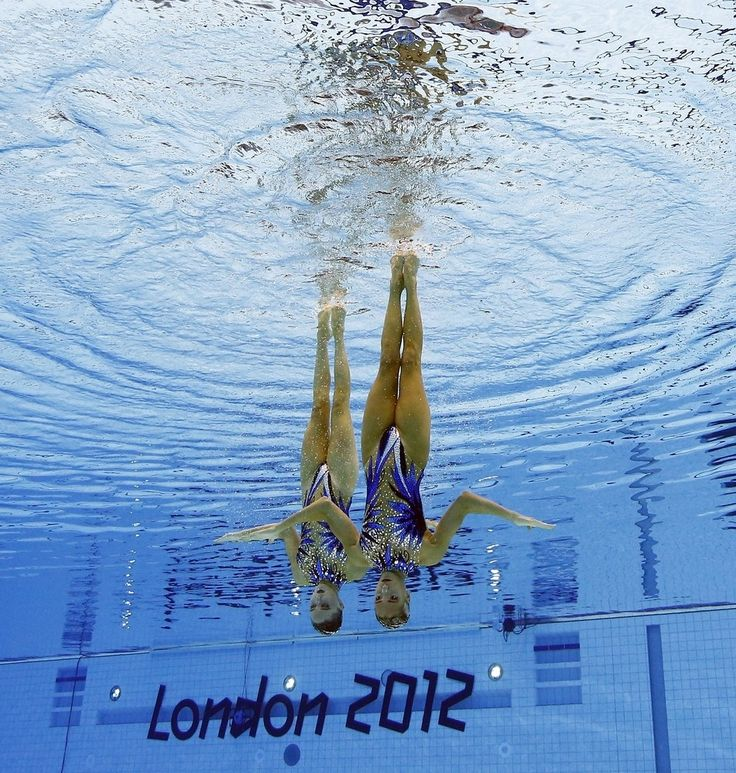 Olivia Federici and Jenna Randall, London 2012 Olympics Syncronized Swimming - Image by Mark J. Terrill / AP