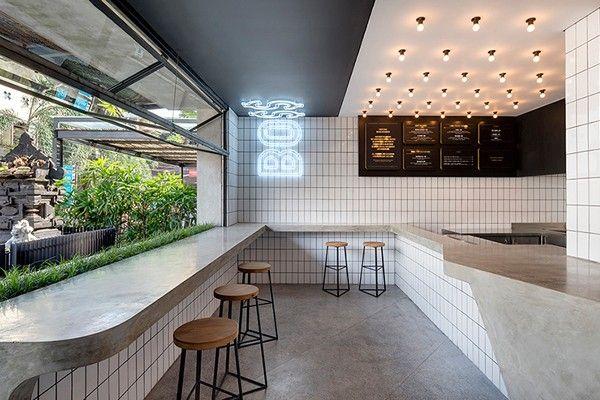 The cool minimalism of Bali's BO$$MAN burger barINDESIGNLIVE