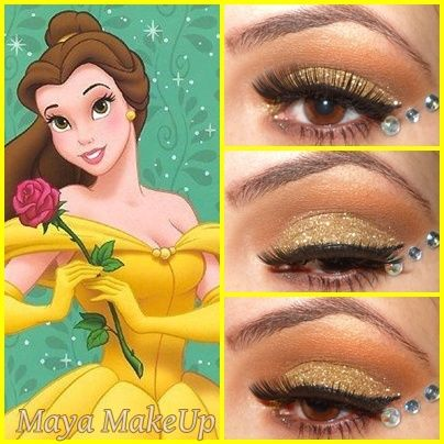 Disney Princesses - Glam express Look Sandra for Gissells makeup for Halloween!