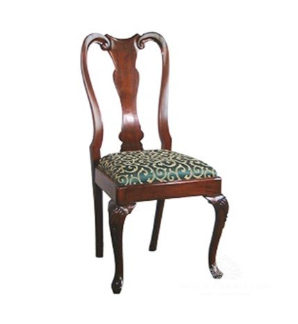 Traditional Queen Anne Dining Chair / Queen Anne Pad Foot Dining Chair / Dutch Connection