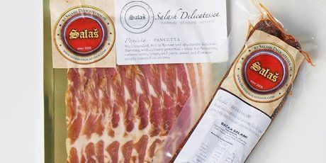 There's cured meat and then there's cured meat. This stuff is the business. The real Eastern European deal. Meat, salt, smoke and sometimes spices - nothing else. No nitrates, no preservatives...
