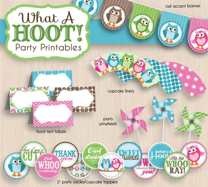 BABY OWL Shower Printable Package in Pink & by PrintasticDesign, $25.00