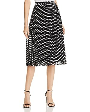 5318443da37d CALVIN KLEIN DOT-PRINT PLEATED MIDI SKIRT. #calvinklein #cloth ...