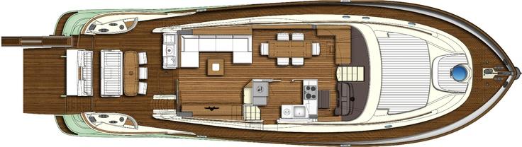 Main deck - view Mochi Craft - Dolphin 64' Cruiser #yacht #luxury #ferretti #mochi
