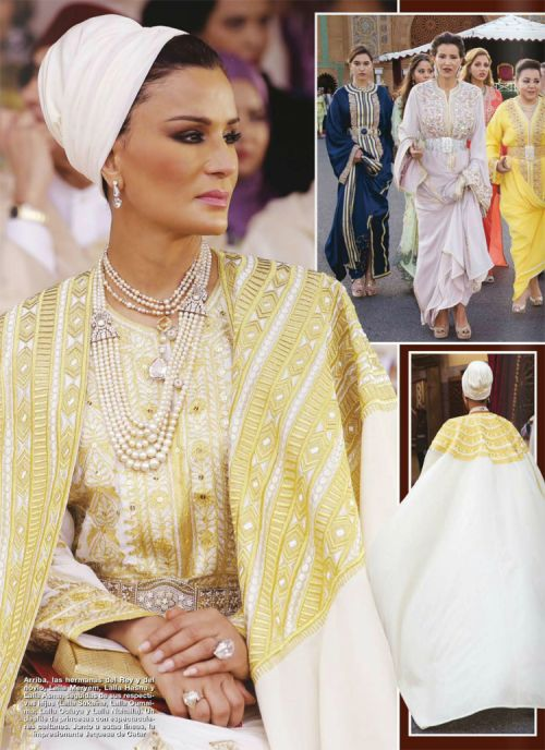Sheikha Mozah of Qatar  Stylist & Brilliant Moving the Arab World in New Directions ;-)  https://en.wikipedia.org/wiki/Moza_bint_Nasser