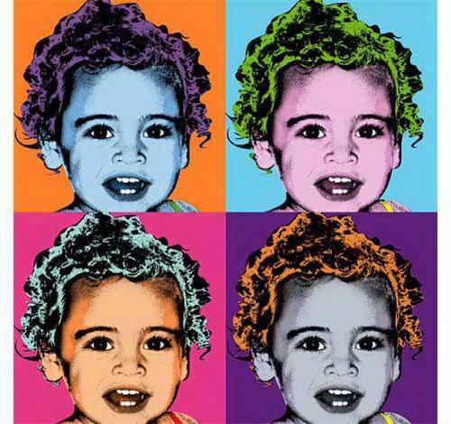 Foto anak dalam Warhol pop art potret, di print di atas kanvas dan kertas poster. Bisa di dapat dalam berbagai macam ukuran, kecil, sedang, besar dan super besar. Sangat cocok untuk hiasan di dinding kamar, ruang keluarga, ruang tamu dan lainnya. Harga di mulai dari Rp. 103.000;