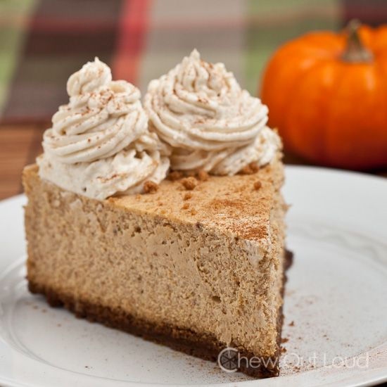 New York Style Pumpkin Cheesecake. Just had a piece of this deliciousness that my friend made, and the whole 2 seconds it took me to eat it my mouth was watering the entire time. Simply delicious!