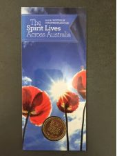 Royal Australian Mint :: 2016 Coin Releases :: 2016 The Spirit Lives Across Australia 100 Years of ANZAC Counterstamp ($1) One Dollar Australian Decimal Coin
