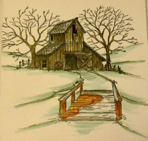 Bridge. Sells for 5.99. Sold separately are the Mountain, barn, creek, Pine tree. Made by Art Impressions Rubber Stamps. You can purchase these from my ebay store Pat's Rubber Stamps & Scrapbooks, Click on the picture here to see the listing , or call me 423-357-4334 with order, . We take PayPal. You get free shipping with the phone orders of $30.00 or more. Use my search engine to find all items you are interested in