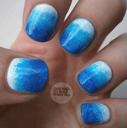 dip dye nails #manicure #nailart