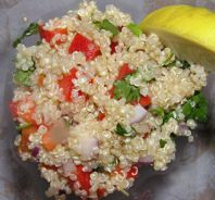 Lemon Quinoa Salad Recipe: Quinoa (keen-wa) is a delicious, healthy, low fat alternative to rice or pasta. It is packed with more protein than any other whole grain and goes well with meat, fish or vegetables.: Fat Alternative, Healthier Recipes, Salad Recipes, Lemon Zest, Quinoa Keen Wa, Baldwin Quinoa, Lemon Quinoa, Whole Grains, Quinoa Salad