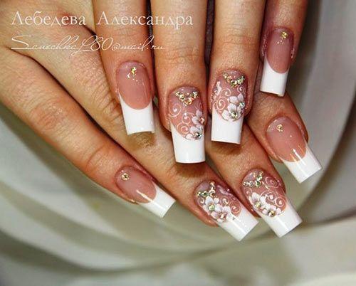 Дизайн свадебный на ногтях