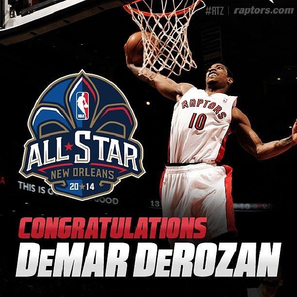 HUGE congrats to DeMar DeRozan on his first career #NBAAllStar selection!