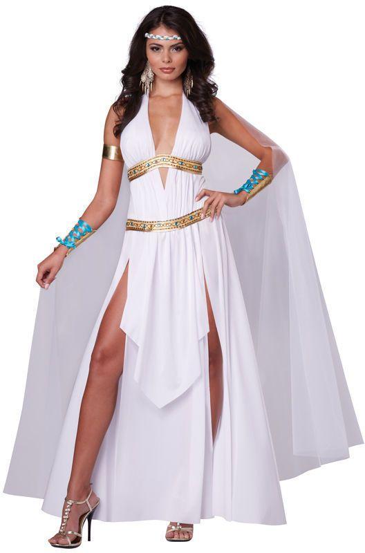 3710cbc1899 Womens Glorious Roman Empire Greek Goddess Full Halloween Costume Set Dress  Cape