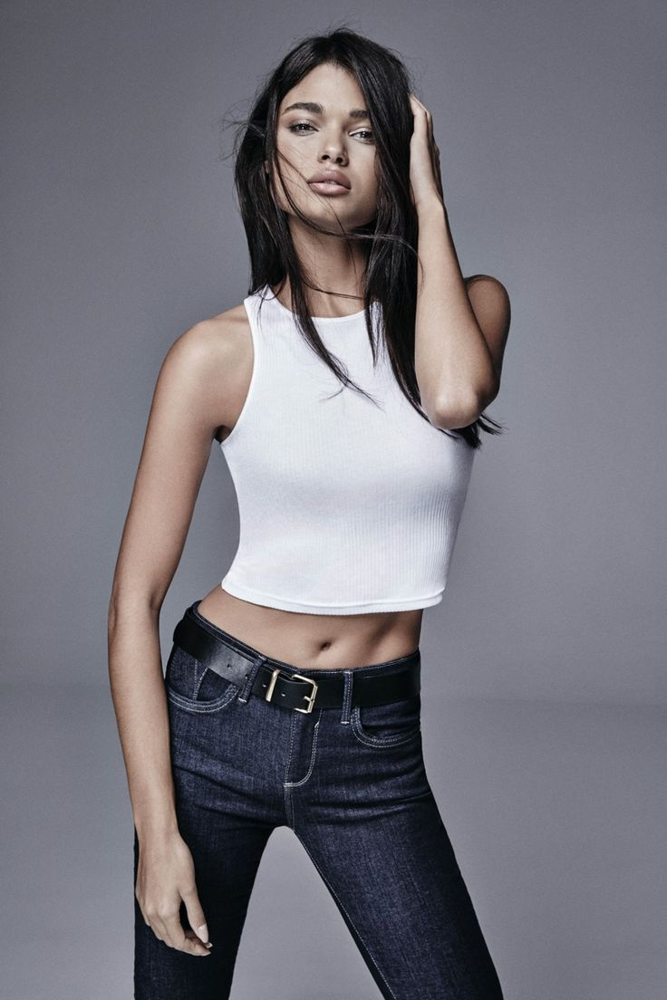 Daniela Braga A look from River Island's spring 2016 denim collection