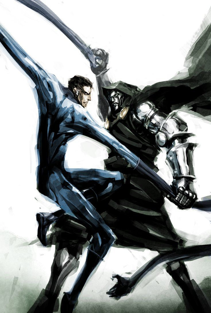 Mr. Fantastic vs. Dr. Doom - naratani.deviantart.com