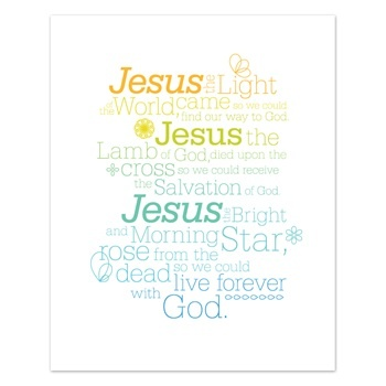 Jesus - Light of the World - Free Easter Printable (process it in cart. it asks for billing credit card information but you can leave that blank and just hit continue)