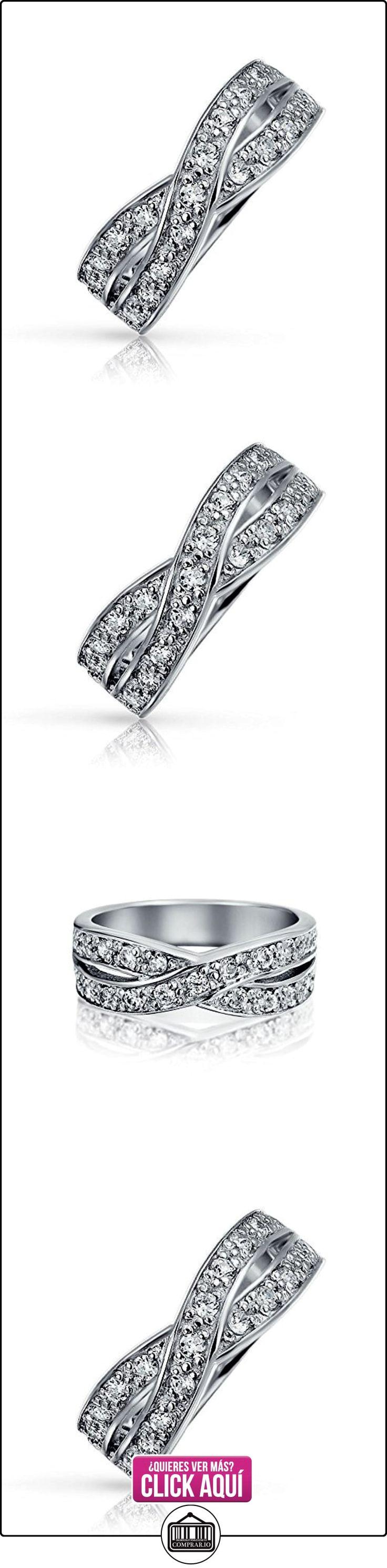 Bling Jewelry Plata Esterlina CZ Le Cercle Allanar Anillo Infinito  ✿ Joyas para mujer - Las mejores ofertas ✿ ▬► Ver oferta: https://comprar.io/goto/B002Y2DPH2
