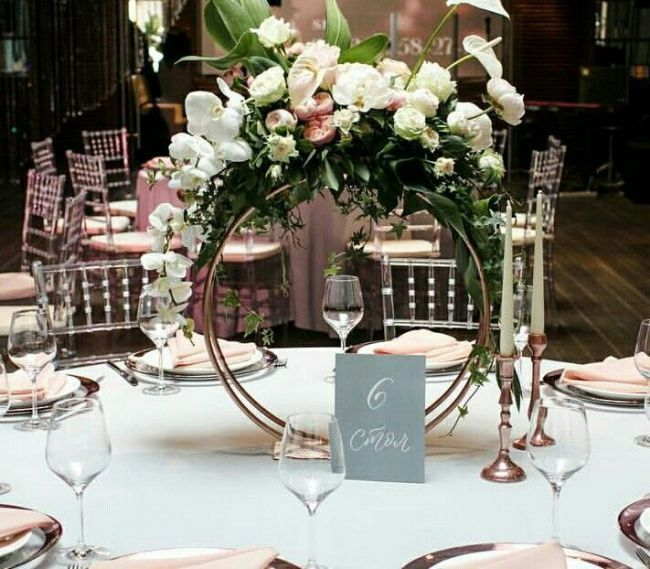Floral Rings Are On Trend Gorgeous Wedding Table