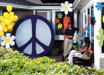 peace party decorating ideas | Retro Decorations for a Rad Flashback Party  | Party Ideas by
