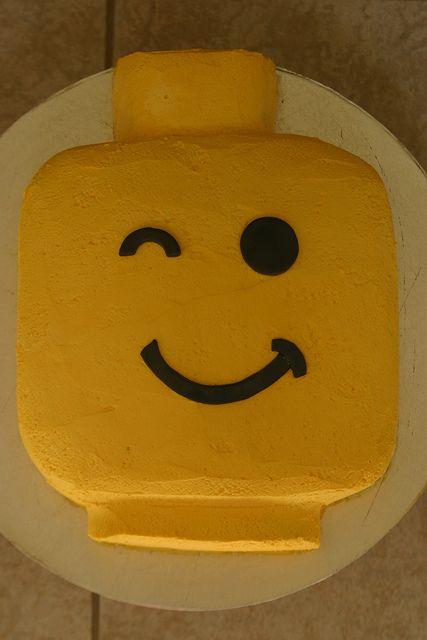 Lego head Birthday Cake | Flickr - Photo Sharing!