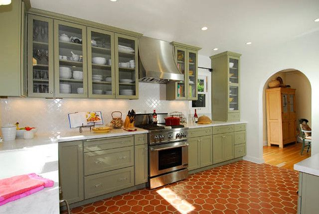mediterranean open kitchen and family room - Google Search
