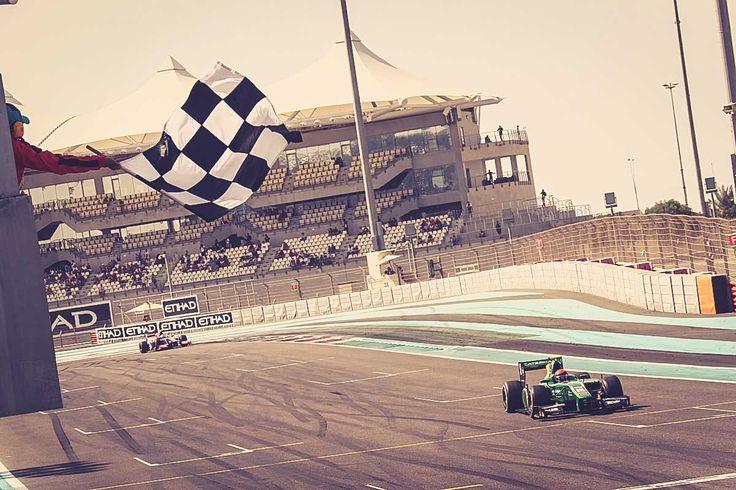 Winning the feature race in Abu Dhabi!
