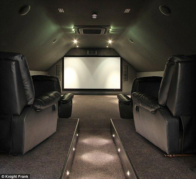Media Room Pedestal For Couch To Sit Up On Maybe With Small Led Lights Or Rope Lights Movieroomdecor Cinema Room Home Cinema Room Small Movie Room