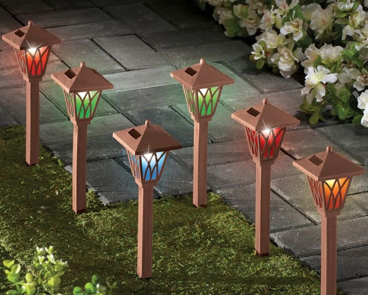 Solar Color Changing Path Lights