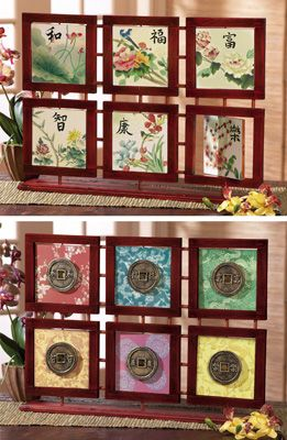 Asian home decor reversible tabletop framed art memories for Home art design collection
