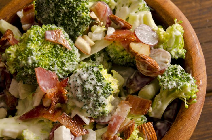 Paleo Salad Dressing with simple Bacon, grape & broccoli.  A very simple paleo salad dressing that tastes so good that I'm sure you'll make it again and again.