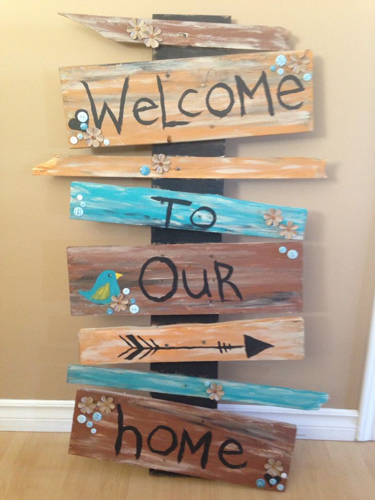DIY Wall Art Welcome Sign