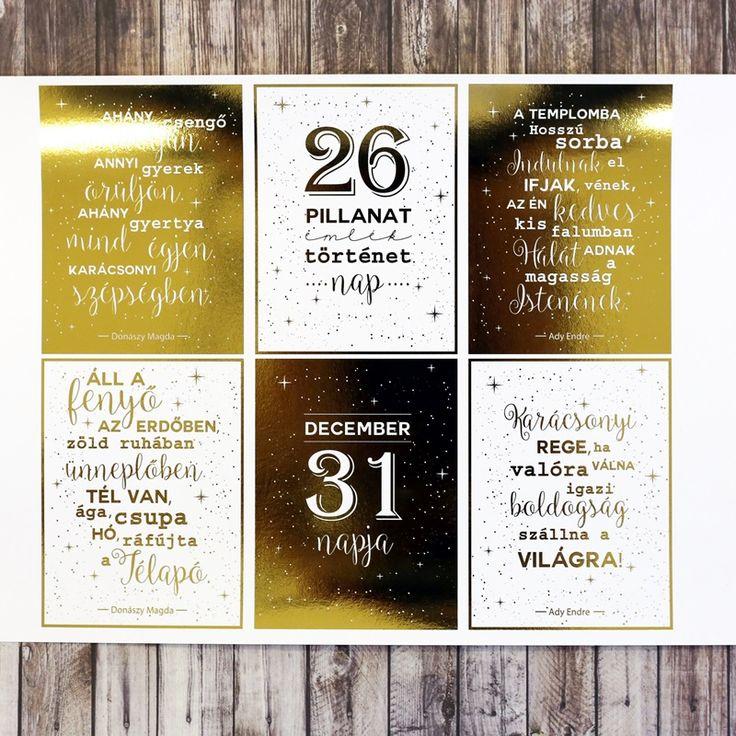 NőiCsizma | Aranyfóliás karácsonyi idézetes kártyák