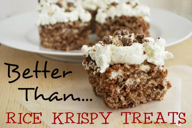 124 best amazing rice krispie treats images on pinterest for Best rice krispie treats variations