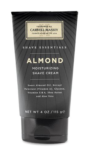 CASWELL MASSEY SHAVING CREAM - ALMOND Caswell-Massey Almond Shave Cream Tube prepares your beard for a close smooth shave. Contains Sweet Almond Oil, Coconut Oil, Chamomile and Thyme extracts to soften your beard. Leaves your skin feeling smooth and moisturised.  Paraben Free, Sulfate Free, Phthalate Free. Not tested on animals.  Made in America