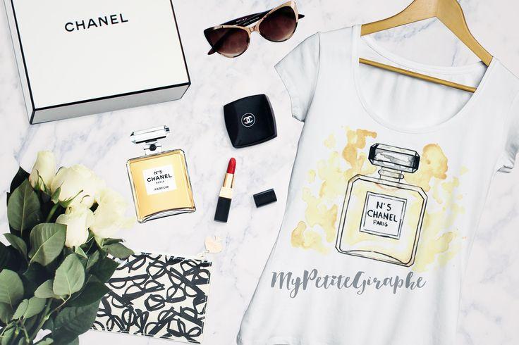 Chanel Watercolor Perfume Design #design #chanel #watercolor #art #tshirt…