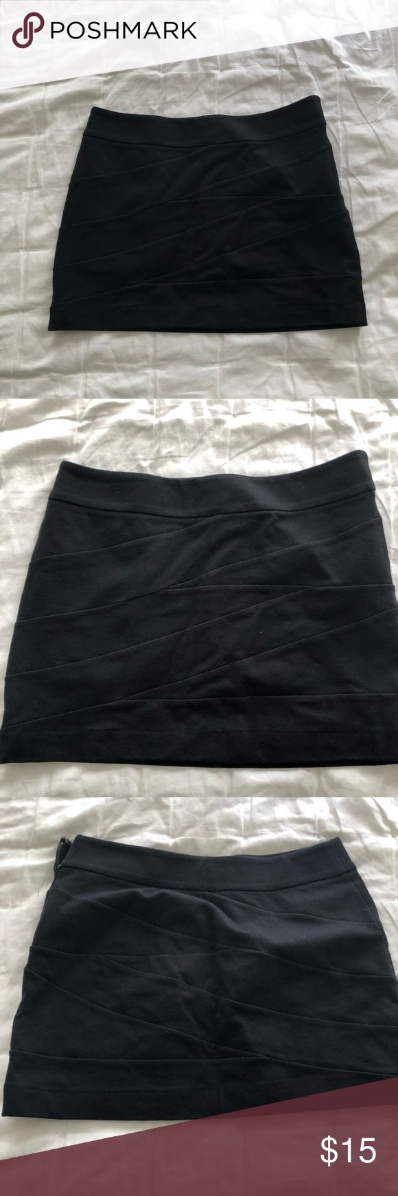 Black express bandeau skirt NWOT never worn. Express Skirts Mini