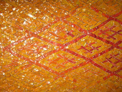 Мозаичный настенный ковер Оранжевый узор