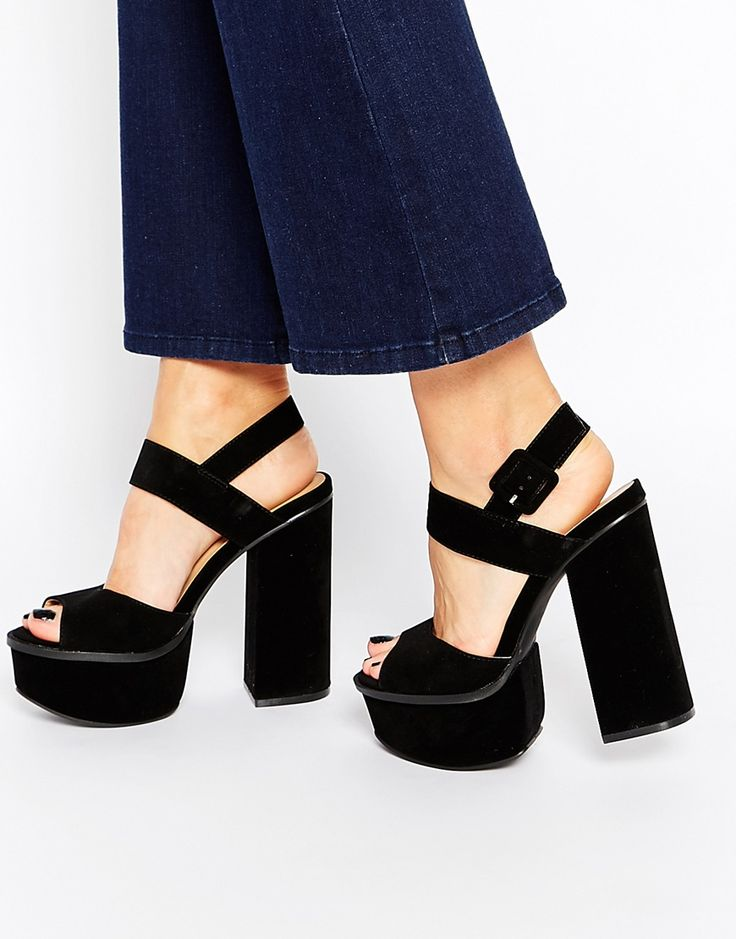 Truffle Collection Platform Ankle Strap Heeled Sandals
